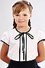 Школьная блузка с завязками