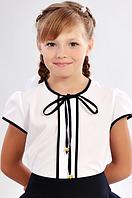 Школьная блузка с завязками, фото 1