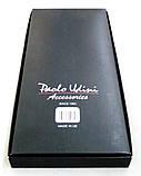 Мужские черные подтяжки Paolo Udini с бордовым узором, фото 5