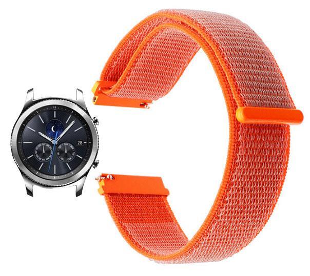 Нейлоновый ремешок Primo для часов Samsung Gear S3 Classic  SM-R770 / Frontier RM-760 - Orange