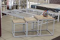 """Комплект кофейных столиков из металла в стиле """"лофт"""", фото 1"""