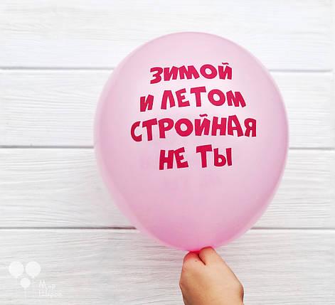 """Шар с шуточной надписью """"Зимой и летом стройная не ты """", фото 2"""
