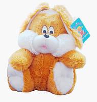 Плюшевый зайчик сидячий, медовый 35 см