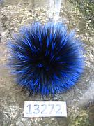 Меховой помпон Чернобурка, Синий, 14 см, 13272