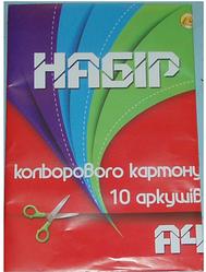 Цветной картон А4 10 листов Цветной картон для детей Игры с цветным картоном для детей