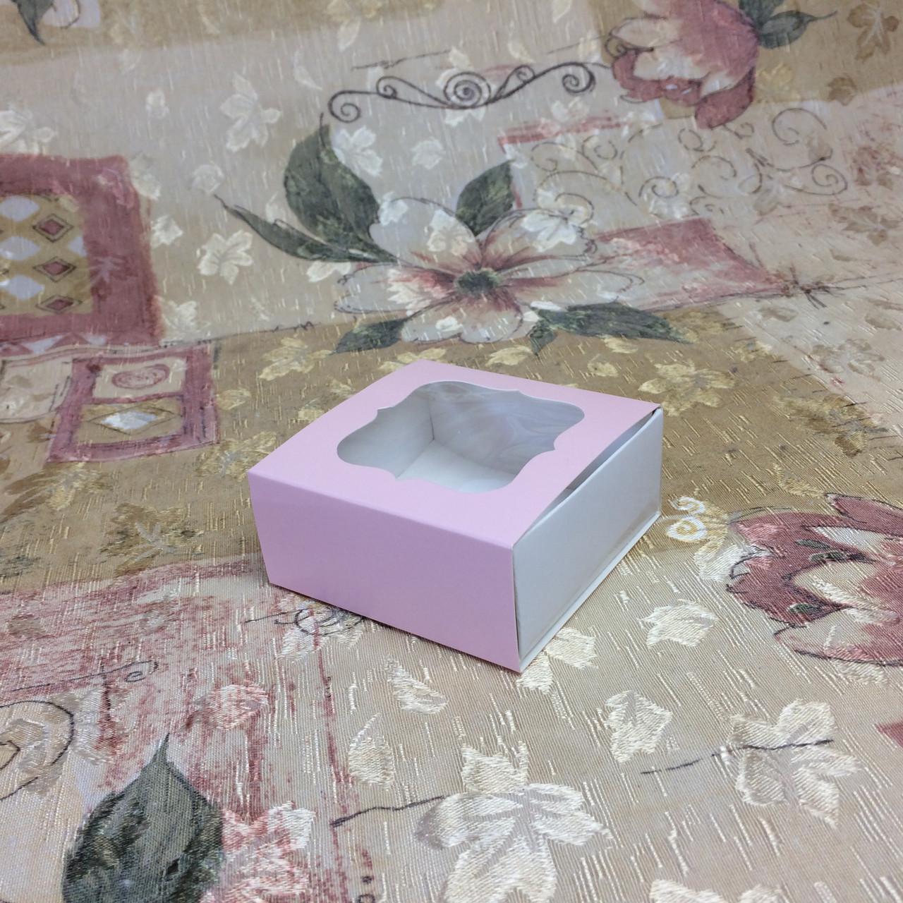 Коробка для пряников / 80х80х35 мм / печать-Пудр / окно-обычн / лк