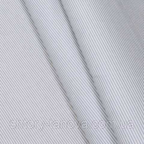 Экокоттон, мелкая полоска серый