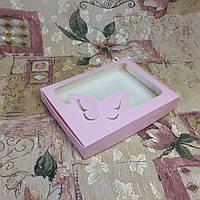 Коробка для пряников / 150х200х30 мм / печать-Пудр / окно-Бабочка / лк, фото 1