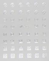 Водная наклейка для дизайна ногтей (серебро)