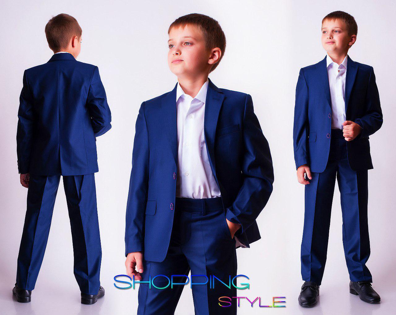 Костюм детский школьный для мальчика синий размеры 122-146 40дол и р.152-174 45дол