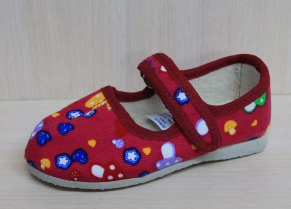 Тапочки в садик на девочку, недорогие, текстильная обувь Экотапок Украина размеры с 14 по 17,5