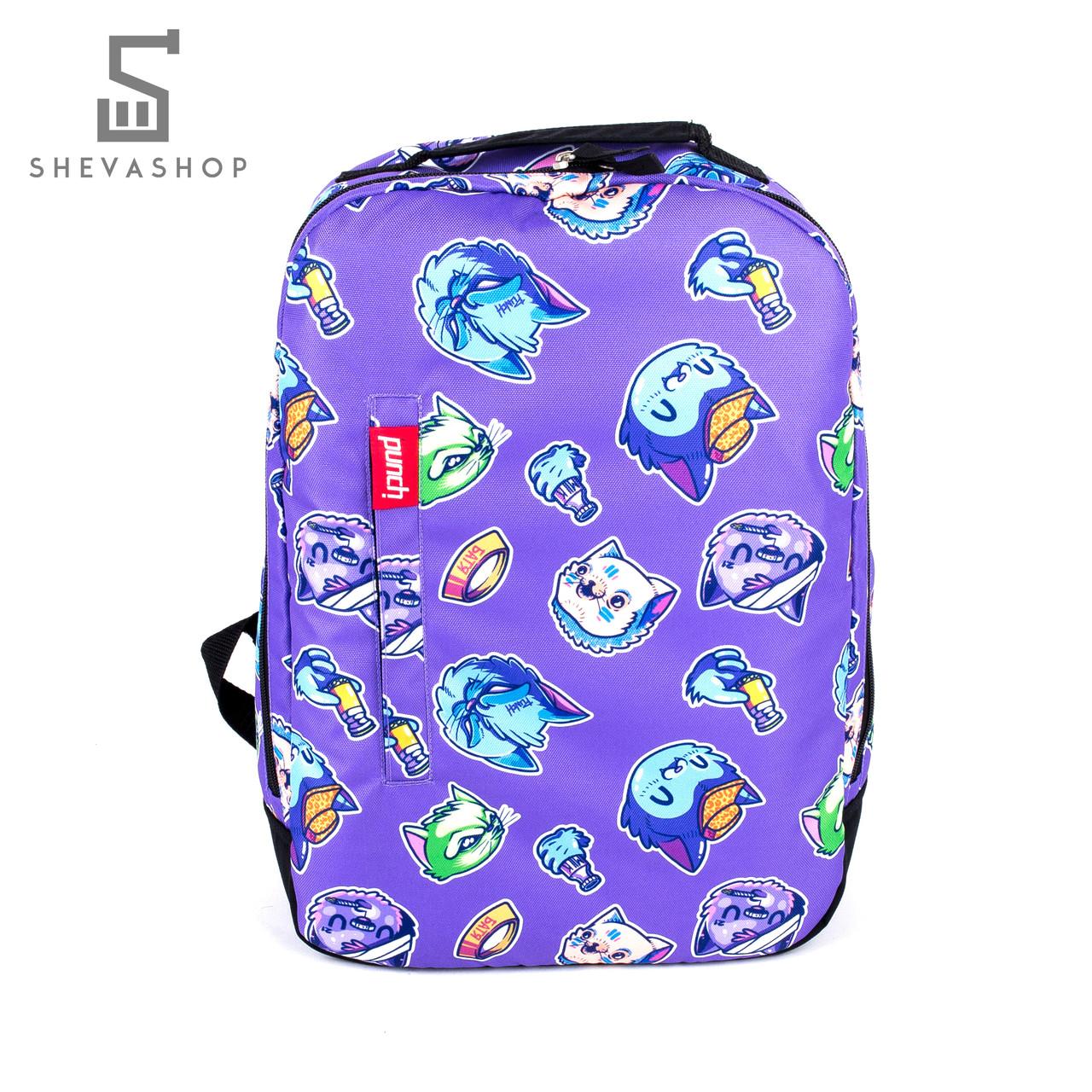 Рюкзак Punch Buzz cats фиолетовый