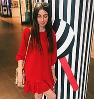 Стильное женское короткое платье свободного кроя, фото 1