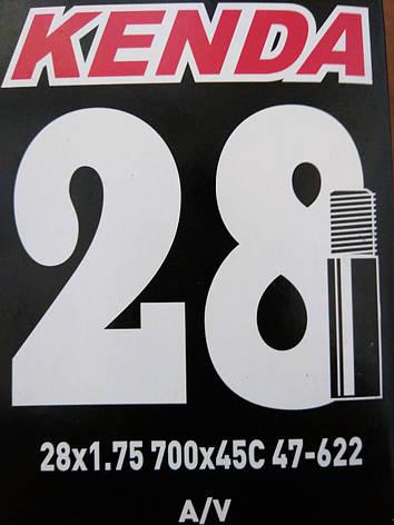 "Камера Kenda 28"" 1,75 AV 32мм 700 X 45C (O-D-0047), фото 2"