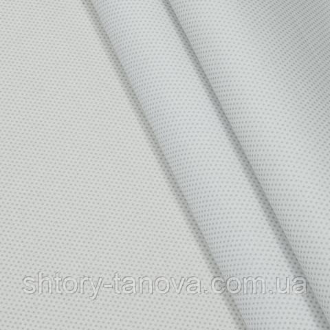 Экокоттон, горошек бело-серый