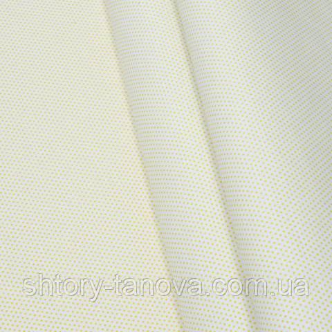 Экокоттон, горошек бело-жёлтый