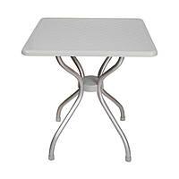Стол квадратный Irak Plastik Alfa 70x70 серый