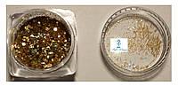 Блестки, паетки для ногтей золото, фото 1