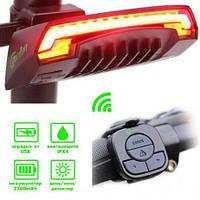 """Велосипедный фонарь, габариты Meilan X5 """"STOP"""" c указанием поворотов, micro USB, фото 1"""
