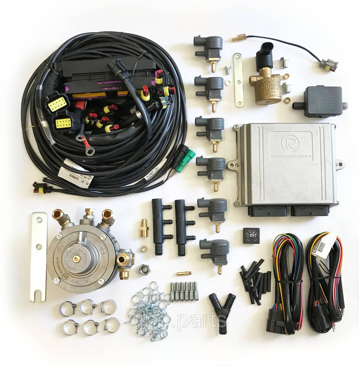 Комплект Romano OBD 290 кВт Direct injection/звичайний на 6 цил. (електроніка, редуктор, клапан, форсунки)