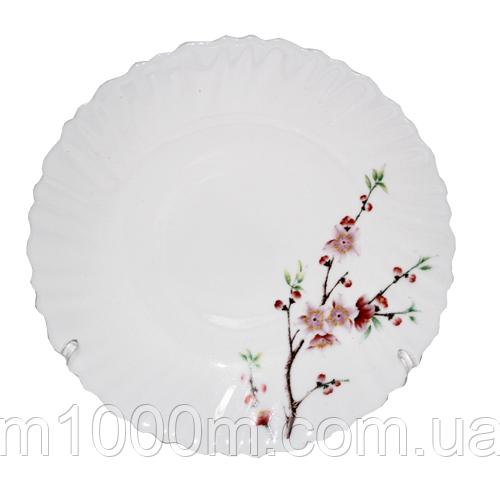 """Тарелка десертная стеклокерамика 19 см """"Сакура"""" 30070-61122"""