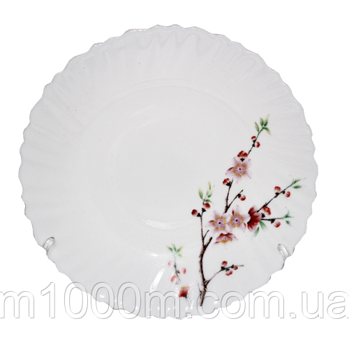 "Тарілка десертна склокераміка 19 см ""Сакура"" 30070-61122"