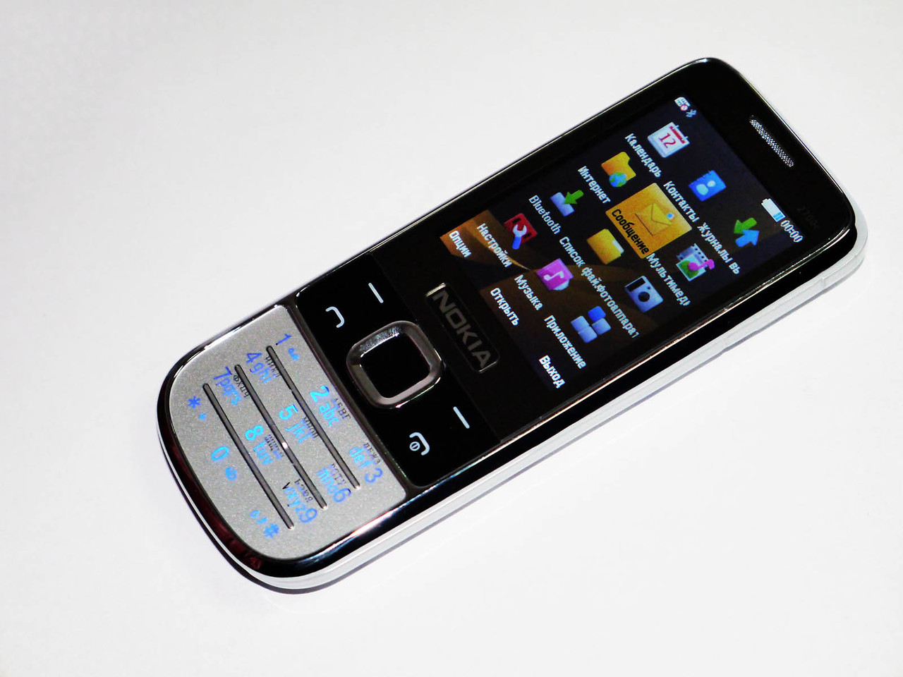 """Телефон Nokia 2700C Серебро - 2,4""""-2 sim - металлический корпус - стильный дизайн"""