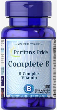 Витаминно-минеральный комплекс Puritan's Pride Complete B 100 капс, фото 2