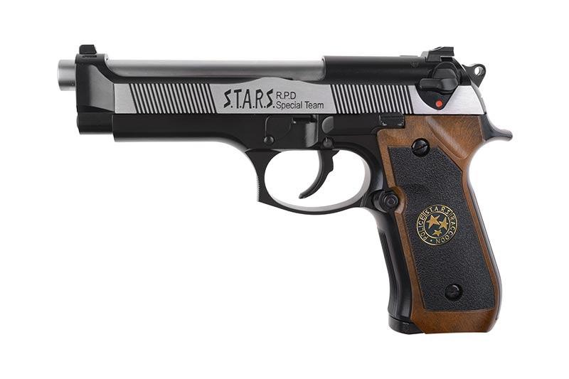 Страйкбольный пистолет Samurai Edge Standard V2. M9 Full Auto - Black/silver [WE] (для страйкбола)