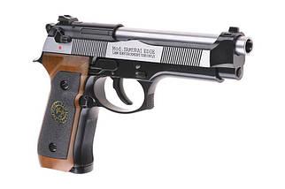 Страйкбольный пистолет Samurai Edge Standard V2. M9 Full Auto - Black/silver [WE] (для страйкбола), фото 3