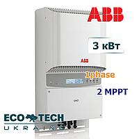 Сетевой солнечный инвертор ABB PVI-3.0-TL-OUTD-S (3 кВт, 1 фаза, 2 трекера), фото 1