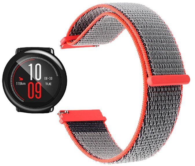 Нейлоновый ремешок Primo для часов Xiaomi Huami Amazfit Sport SmartWatch - Neon Red