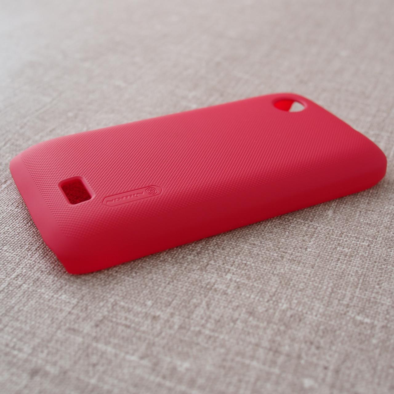 Чехлы для других смартфонов Nillkin Super Frosted Shield Lenovo A369 red