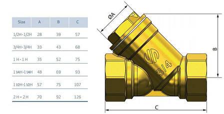 """Фильтр грубой очистки ARCO 01830 угловой 1/2"""", фото 2"""