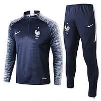 Футбольный тренировочный костюм Сборной Франции, 2018 сезона