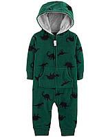 "Комбинезон Картерс флисовый на мальчика ""Прогулка с динозаврами"" 6м,9м,12м,18м,24м, фото 1"