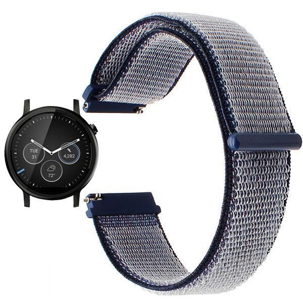 Нейлоновый ремешок для часов Motorola Moto 360 2nd gen (46mm) - Navi Blue