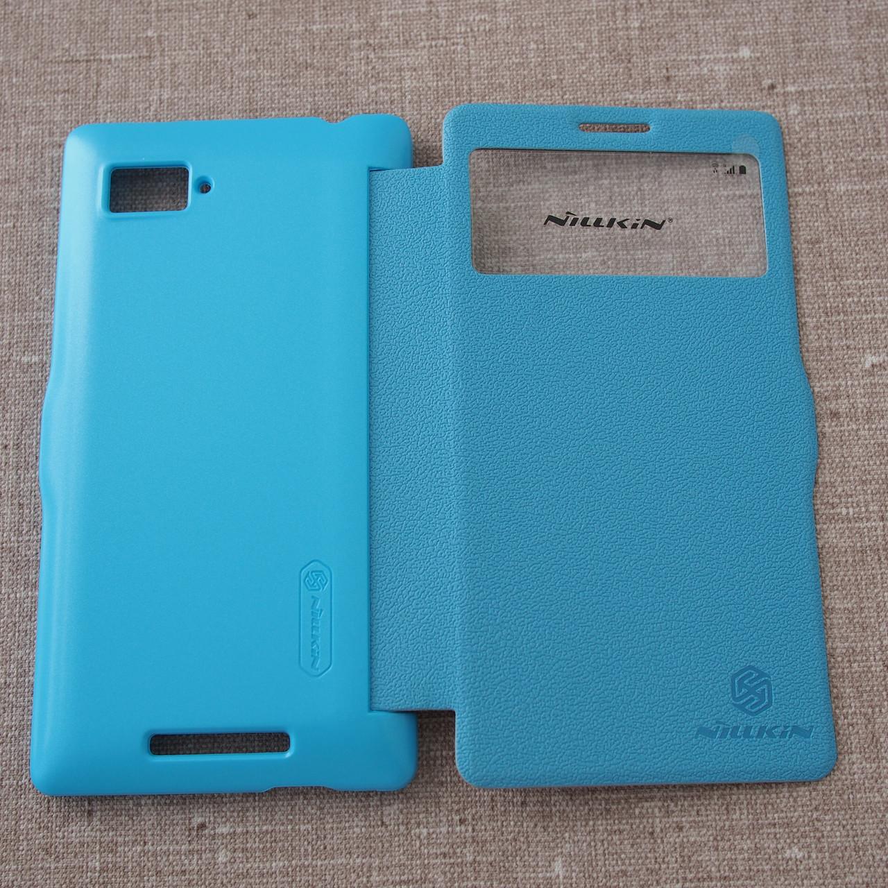 Чехол Nillkin Fresh Lenovo K910 light-blue Для телефона