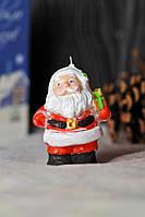 Новогодняя декоративная свеча 5шт/уп - Санта Клаус мини