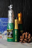 Новогодняя декоративная свеча 5шт/уп - Бутылка Шампанского