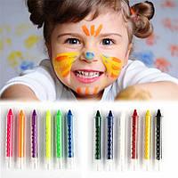 карандаши для боди-арта, гримма, чтобы рисовать на лице и теле, макияж на хэллоуин, вечеринку (цена за 6шт)