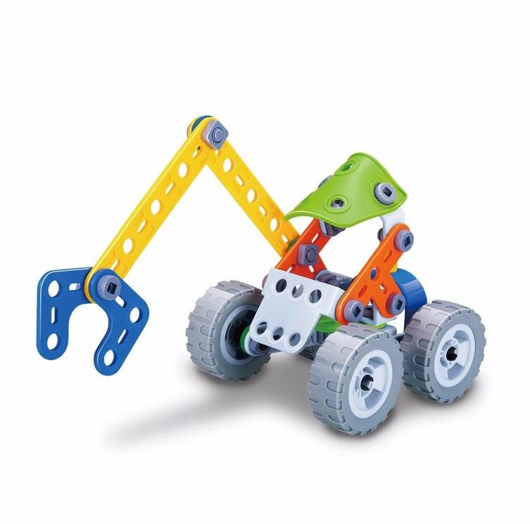 Конструктор BUILD&PLAY набор  для конструирования и моделирования игрушечного экскаватора 74 эл. (SUN1512)