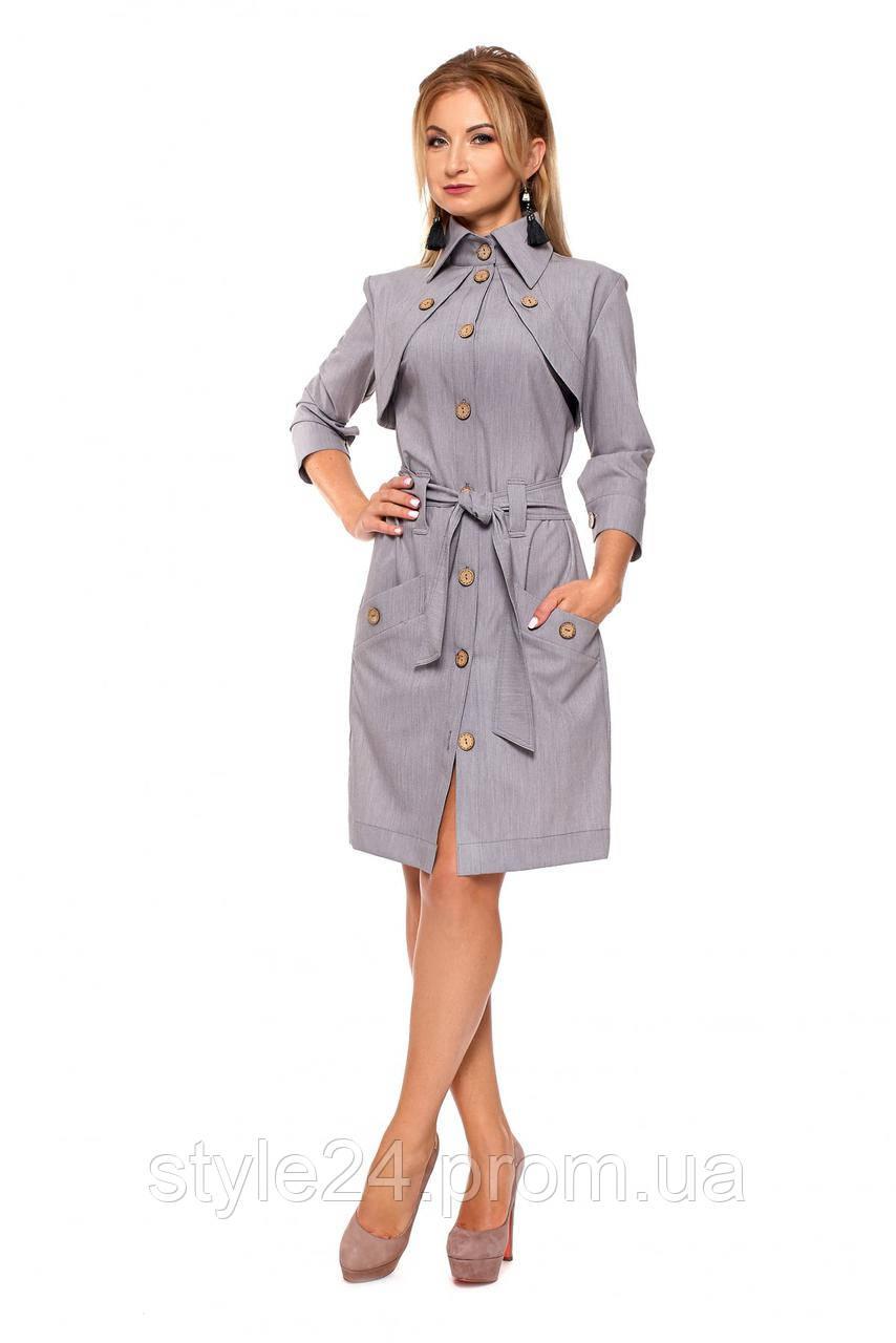 Жіноче пряме плаття на гудзики з поясом.Р-ри 42-50  продажа f88ed933b3b68