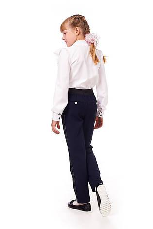 Стильные школьные брюки синего цвета для девочки 15011, фото 2