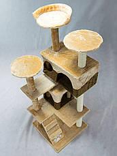"""Когтеточка """"Игровая площадка"""" коричнево-бежевый Pethaus, 50x50x130 см, фото 3"""