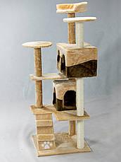 """Когтеточка """"Игровая площадка"""" коричнево-бежевый Pethaus, 50x50x130 см, фото 2"""
