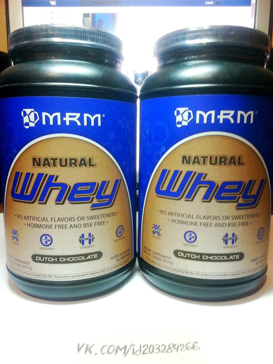 Протеин, MRM Natural Whey 900г
