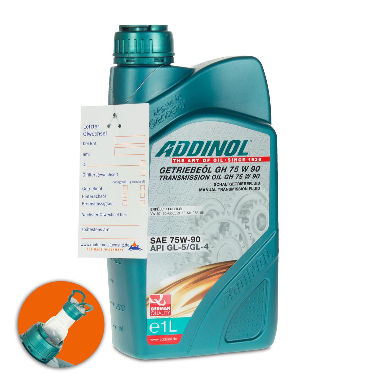 Синтетическое трансмиссионное масло Addinol GH 75w-90 GL4,GL5 1L