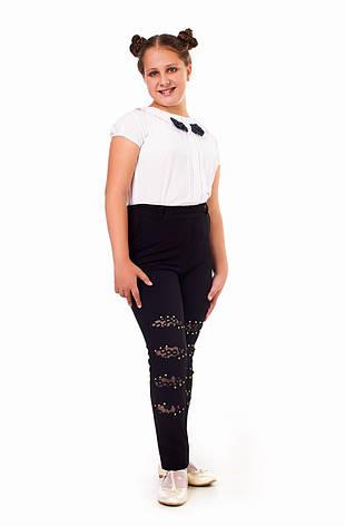 Стильные брюки со вставками на коленях 25021, фото 2