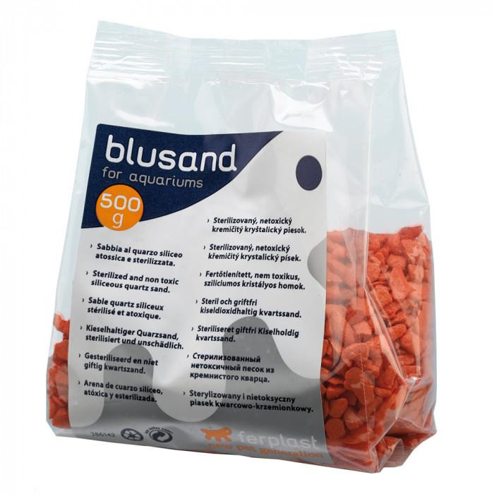 Кварцевый песок для аквариумов Ferplast BLUSAND Оранжевый